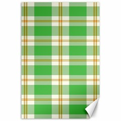 Abstract Green Plaid Canvas 24  x 36