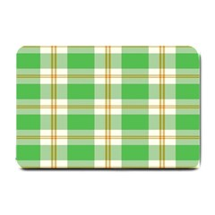 Abstract Green Plaid Small Doormat