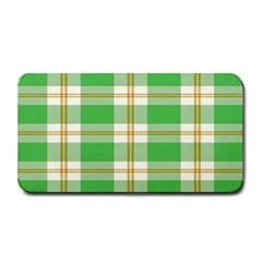 Abstract Green Plaid Medium Bar Mats