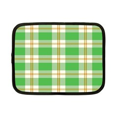 Abstract Green Plaid Netbook Case (small)