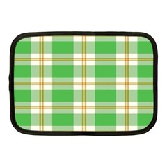 Abstract Green Plaid Netbook Case (Medium)