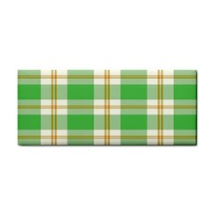 Abstract Green Plaid Cosmetic Storage Cases