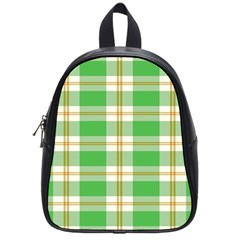 Abstract Green Plaid School Bags (small)