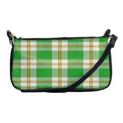 Abstract Green Plaid Shoulder Clutch Bags