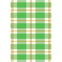Abstract Green Plaid 5.5  x 8.5  Notebooks