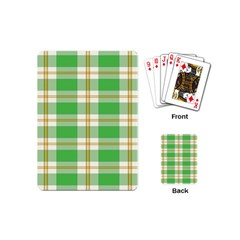 Abstract Green Plaid Playing Cards (mini)