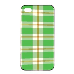 Abstract Green Plaid Apple iPhone 4/4s Seamless Case (Black)
