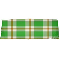 Abstract Green Plaid Body Pillow Case Dakimakura (two Sides)