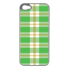 Abstract Green Plaid Apple Iphone 5 Case (silver)