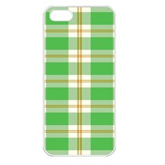Abstract Green Plaid Apple Iphone 5 Seamless Case (white)