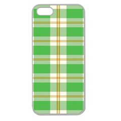 Abstract Green Plaid Apple Seamless iPhone 5 Case (Clear)