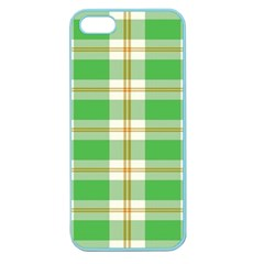 Abstract Green Plaid Apple Seamless Iphone 5 Case (color)