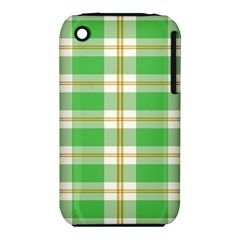 Abstract Green Plaid Iphone 3s/3gs