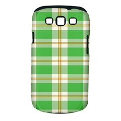 Abstract Green Plaid Samsung Galaxy S III Classic Hardshell Case (PC+Silicone)