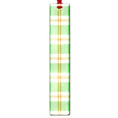 Abstract Green Plaid Large Book Marks
