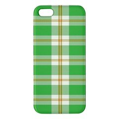 Abstract Green Plaid Apple iPhone 5 Premium Hardshell Case