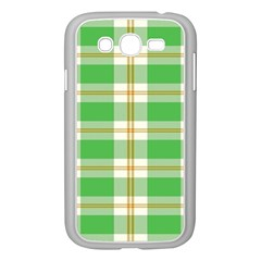 Abstract Green Plaid Samsung Galaxy Grand Duos I9082 Case (white)