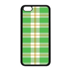 Abstract Green Plaid Apple Iphone 5c Seamless Case (black)