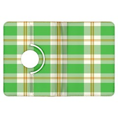 Abstract Green Plaid Kindle Fire HDX Flip 360 Case