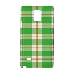 Abstract Green Plaid Samsung Galaxy Note 4 Hardshell Case