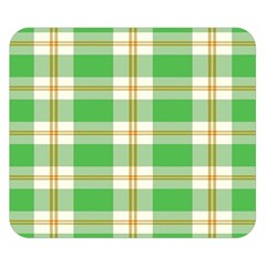 Abstract Green Plaid Double Sided Flano Blanket (small)