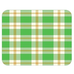 Abstract Green Plaid Double Sided Flano Blanket (Medium)
