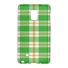 Abstract Green Plaid Galaxy Note Edge