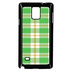 Abstract Green Plaid Samsung Galaxy Note 4 Case (black)