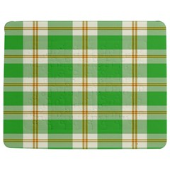 Abstract Green Plaid Jigsaw Puzzle Photo Stand (Rectangular)