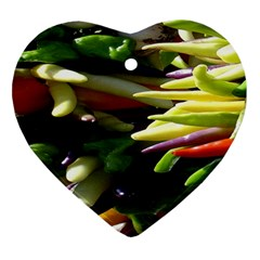 Bright Peppers Ornament (Heart)