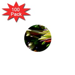Bright Peppers 1  Mini Buttons (100 Pack)