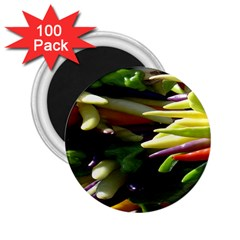 Bright Peppers 2 25  Magnets (100 Pack)