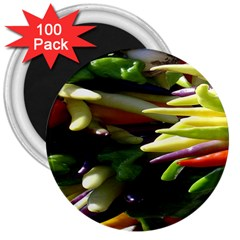 Bright Peppers 3  Magnets (100 pack)