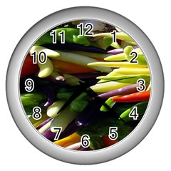 Bright Peppers Wall Clocks (Silver)