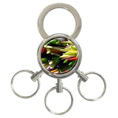 Bright Peppers 3-Ring Key Chains
