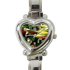 Bright Peppers Heart Italian Charm Watch