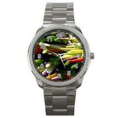 Bright Peppers Sport Metal Watch