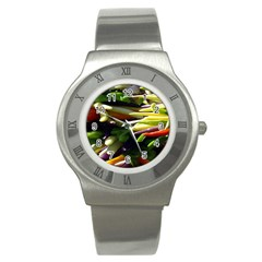 Bright Peppers Stainless Steel Watch