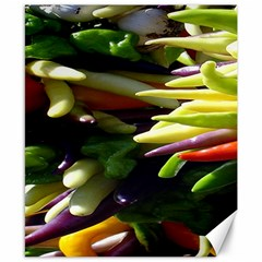 Bright Peppers Canvas 8  x 10