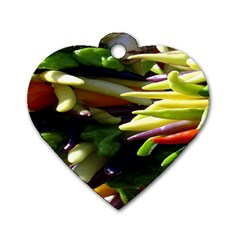 Bright Peppers Dog Tag Heart (one Side)