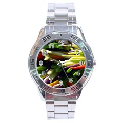 Bright Peppers Stainless Steel Analogue Watch