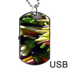 Bright Peppers Dog Tag Usb Flash (one Side)