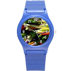 Bright Peppers Round Plastic Sport Watch (s)