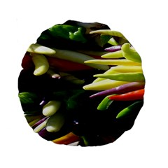 Bright Peppers Standard 15  Premium Round Cushions