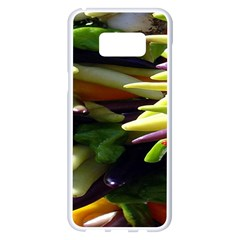 Bright Peppers Samsung Galaxy S8 Plus White Seamless Case