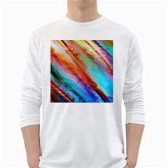 Cool Design White Long Sleeve T Shirts