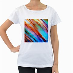 Cool Design Women s Loose Fit T Shirt (white)