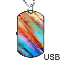 Cool Design Dog Tag Usb Flash (one Side)