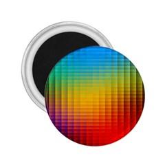 Blurred Color Pixels 2.25  Magnets