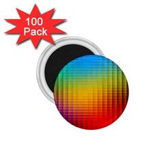 Blurred Color Pixels 1 75  Magnets (100 Pack)